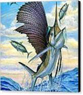 Hunting Of Small Tunas Canvas Print by Terry Fox