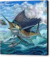 Hunting Sail Canvas Print by Terry Fox
