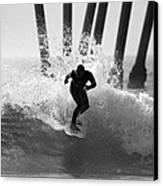 Huntington Beach Surfer Canvas Print by Pierre Leclerc Photography
