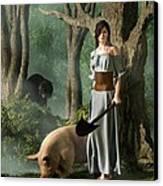 Huon The Truffle Hog Canvas Print by Daniel Eskridge