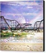 Hurricane Sandy Jetstar Roller Coaster Fantasy Canvas Print by Jessica Cirz