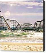 Hurricane Sandy Jetstar Roller Coaster Sun Glare Canvas Print by Jessica Cirz