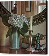 Hydrangea Still-life Canvas Print by Terry Rowe