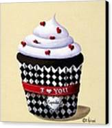 I Love You Cupcake Canvas Print by Catherine Holman
