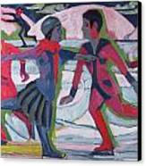 Ice Skaters  Canvas Print by Ernst Ludwig Kirchner
