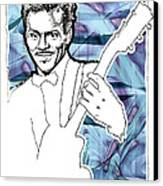 Icons- Chuck Berry Canvas Print by Jerrett Dornbusch