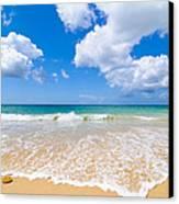 Idyllic Summer Beach Algarve Portugal Canvas Print by Amanda Elwell