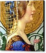 If One Could Have That Little Head Of Hers Canvas Print by Eleanor Fortescue Brickdale
