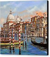 Il Canal Grande Canvas Print by Guido Borelli