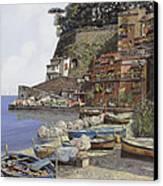 il porto di Sorrento Canvas Print by Guido Borelli