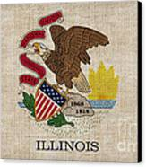 Illinois State Flag Canvas Print by Pixel Chimp