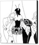 Illustration For The Masque Of The Red Death Canvas Print by Aubrey Beardsley