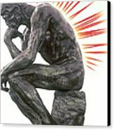 Illustration Of Back Pain Canvas Print by Dennis Potokar