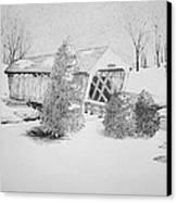 Imes Snow Bridge Canvas Print by Tammie Temple