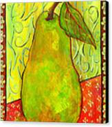 Impressionist Style Pear Canvas Print by Blenda Studio