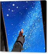 In Awe Of Andromeda And The Milky Way Canvas Print by Kathleen Horner