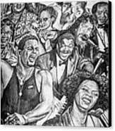 In Praise Of Jazz Canvas Print by Steve Harrington