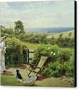 In The Garden Canvas Print by Thomas James Lloyd