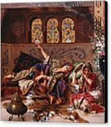 In The Harem Canvas Print by Rudolphe Ernst
