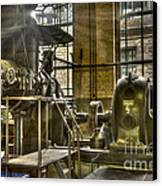 In The Ship-lift Engine Room Canvas Print by Heiko Koehrer-Wagner