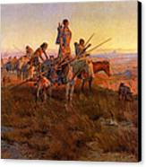 In The Wake Of The Buffalo Hunters Canvas Print by Charles Russell