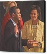 Inauguration Of Barack Obama Canvas Print by Noe Peralez