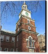 Independence Hall Bell Tower Canvas Print by Olivier Le Queinec