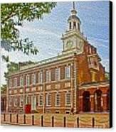 Independence Hall Philadelphia  Canvas Print by Tom Gari Gallery-Three-Photography