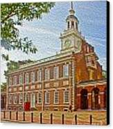 Independence Hall Philadelphia  Canvas Print by Tom Gari Gallery-Three-Photography