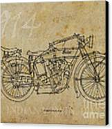 Indian V-twin 1914 Canvas Print by Pablo Franchi
