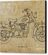 Indian Warrior Tt 1950 Canvas Print by Pablo Franchi