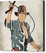 Indiana Jones - Harrison Ford Canvas Print by Ayse Deniz