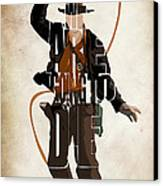 Indiana Jones Vol 2 - Harrison Ford Canvas Print by Ayse Deniz