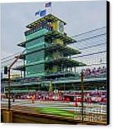 Indianapolis 500 May 2013 Square Canvas Print by David Haskett