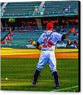 Indianapolis Indians Catcher Canvas Print by David Haskett