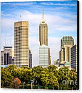 Indianapolis Skyline Picture Canvas Print by Paul Velgos