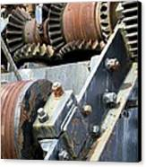 Industrial Cogs And Pulley Wheels Canvas Print by Science Photo Library