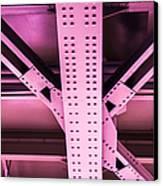 Industrial Metal Purple Canvas Print by Alexander Senin