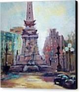 Indy Circle Back-lit Canvas Print by Donna Shortt
