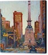 Indy Circle- Twilight Canvas Print by Donna Shortt
