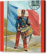 Infantry Of The Line Drummer With Fgb Border Canvas Print by A Morddel