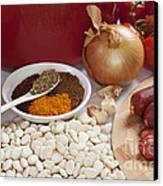 Ingredients For Spanish Chorizo Soup Canvas Print by Colin and Linda McKie