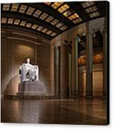 Inside The Lincoln Memorial Canvas Print by Metro DC Photography