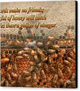 Inspiration - Apiary - Bee's - Sweet Success - Ben Franklin Canvas Print by Mike Savad