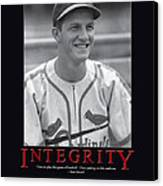 Integrity Stan Musial Canvas Print by Retro Images Archive