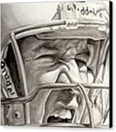 Intensity Peyton Manning Canvas Print by Tamir Barkan