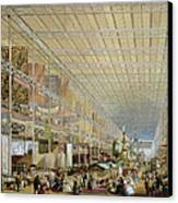 Interior Of The Great Exhibition Of All Canvas Print by Edmund Walker