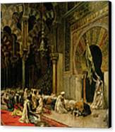 Interior Of The Mosque At Cordoba Canvas Print by Edwin Lord Weeks
