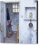 Interior With Red Jug Canvas Print by Charles E Hardaker