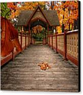 Into The Autumn Canvas Print by Lourry Legarde